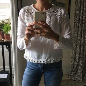 Swiss Dot + Lace Zara Shirt
